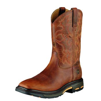 WorkHog Wide Square Toe Steel Toe Work Boot