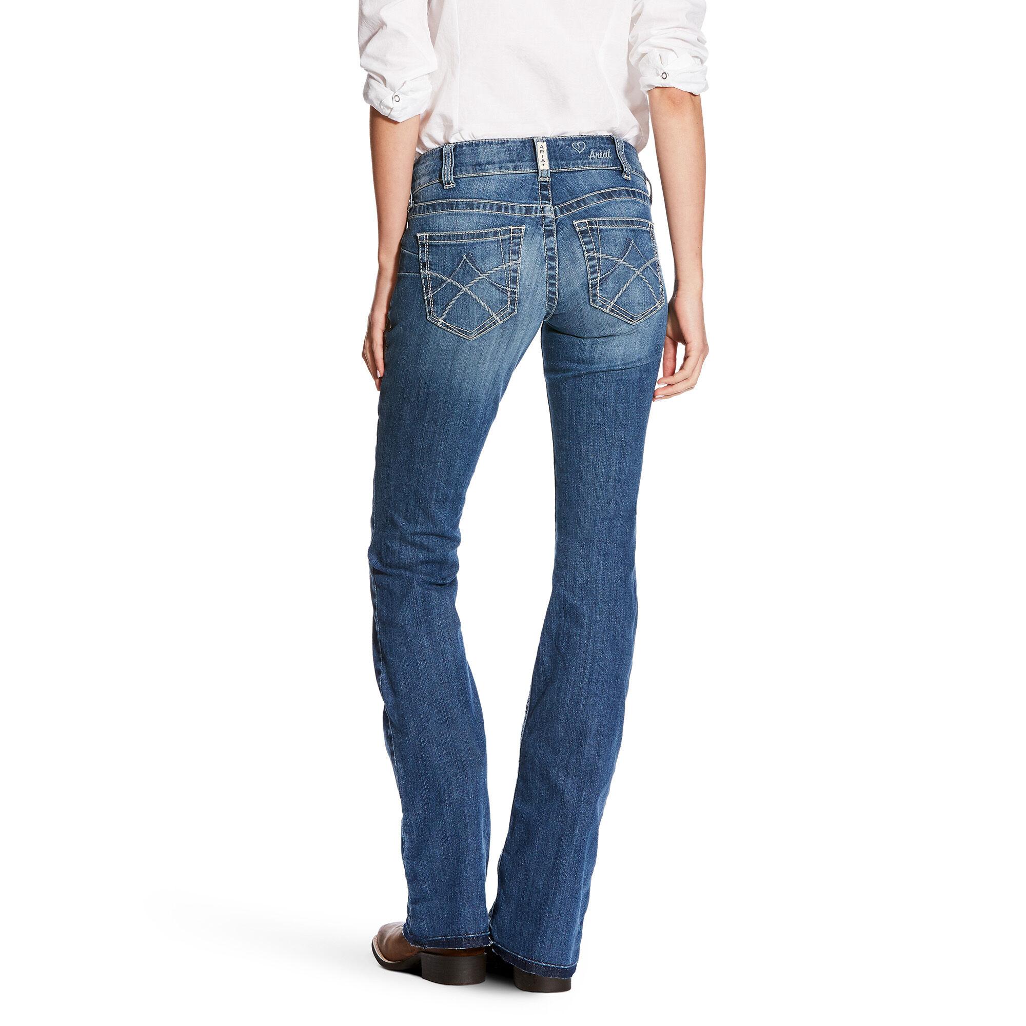 98907f1e4a7f R.E.A.L Mid Rise Jasmine Boot Cut Jean