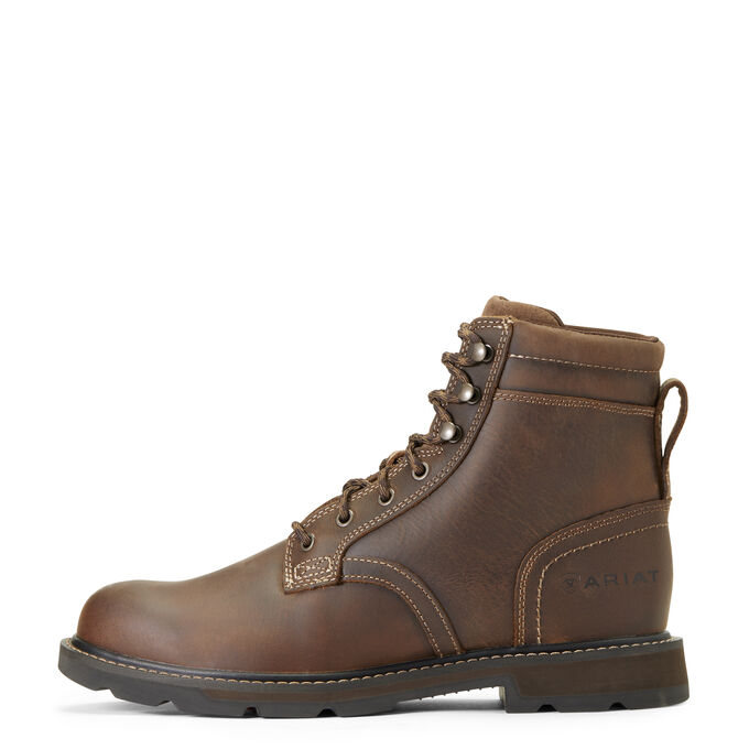 Men's Brown Lace Up Work Boots