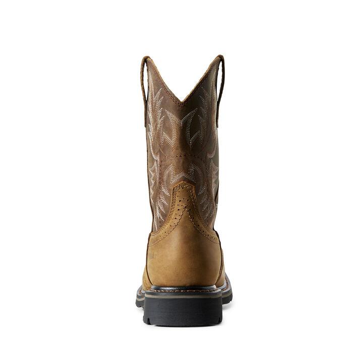 Sierra Wide Square Toe Work Boot