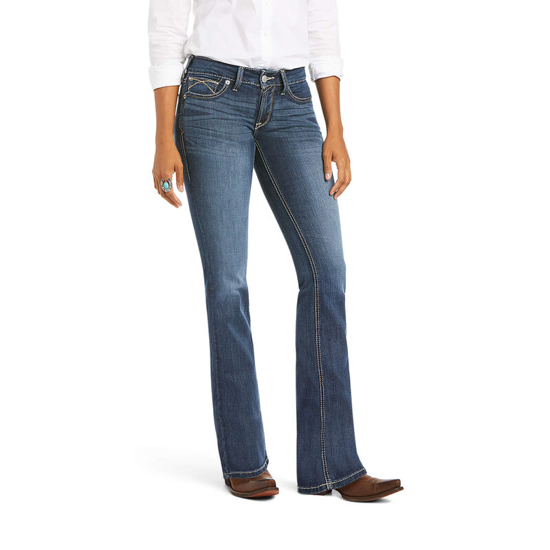 R.E.A.L. Mid Rise Stretch Tulip Boot Cut Jean
