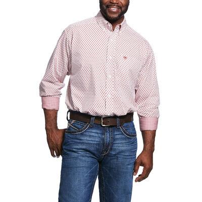 Wrinkle Free Washington Print Classic Fit Shirt