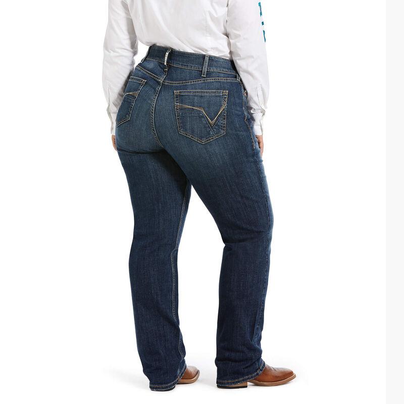 R.E.A.L. Mid Rise Stretch Julia Straight Jean