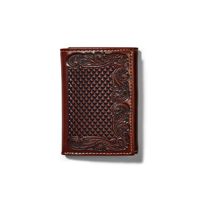 Trifold Wallet Diamond Plate