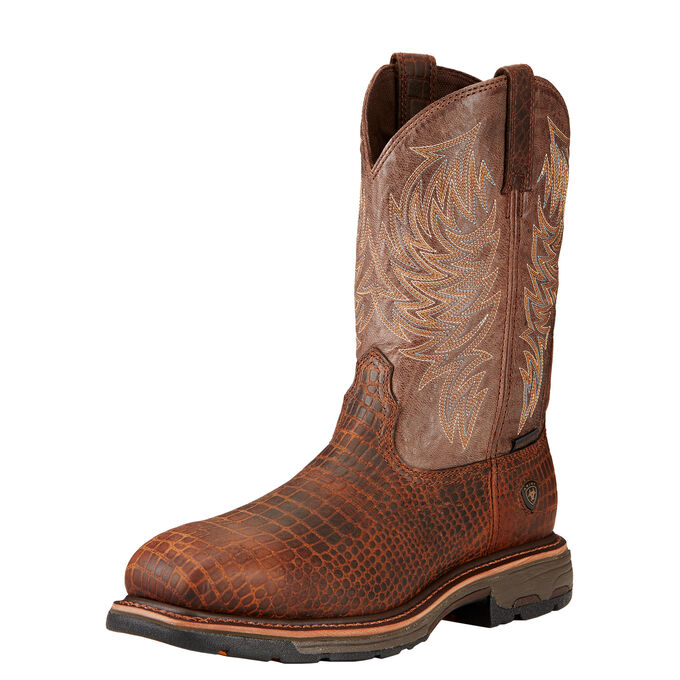 WorkHog Wide Square Toe Composite Toe Work Boot