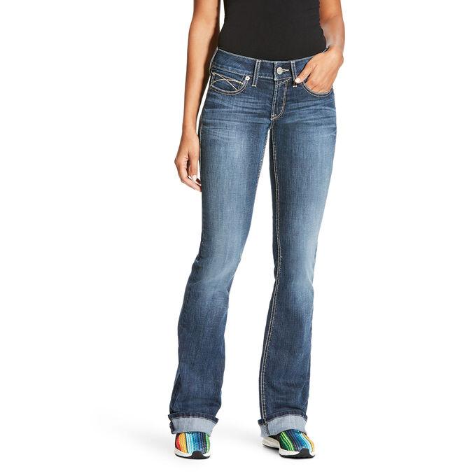 R.E.A.L Mid Rise Tulip Boot Cut Jean