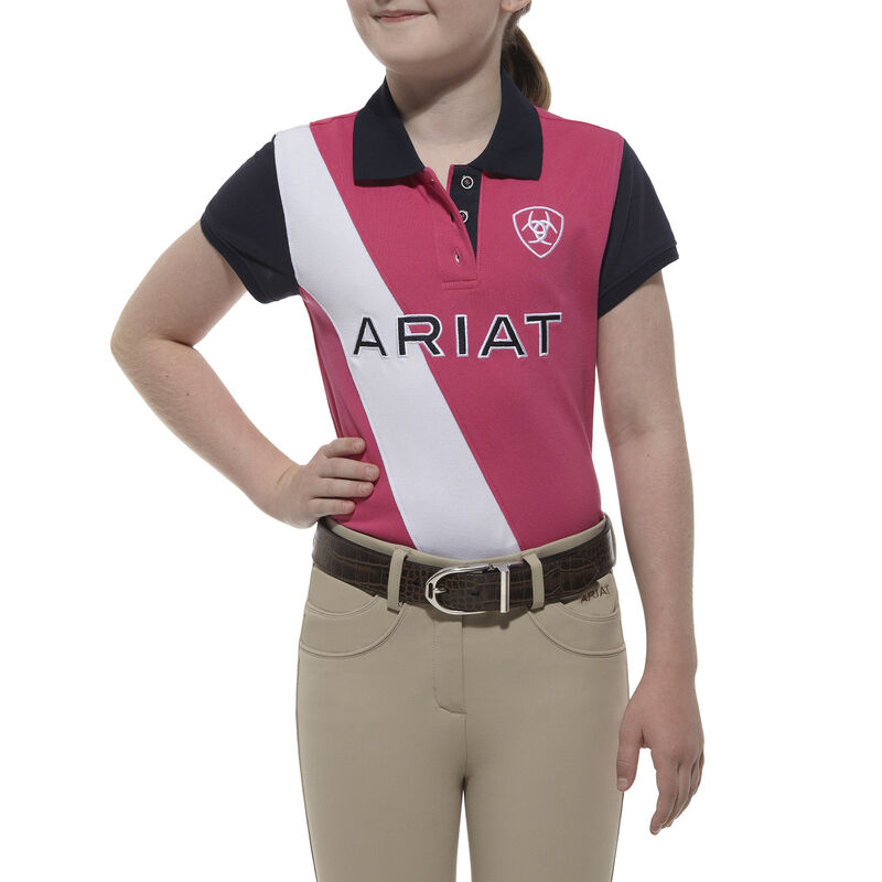 ARIAT Womens Taryn Polo T-Shirt Red Size Small