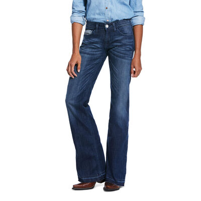Trouser Mid Rise Stretch Reverse Sparrow Boot Cut Jean