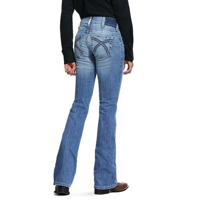 R.E.A.L. Mid Rise Stretch Rosa Boot Cut Jean