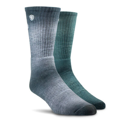 Incognito Graphic Crew Work Sock 2 Pair Multi Color Pack