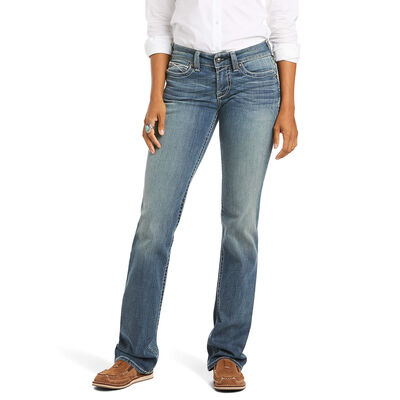 R.E.A.L. Mid Rise Stretch Icon Stackable Straight Leg Jean