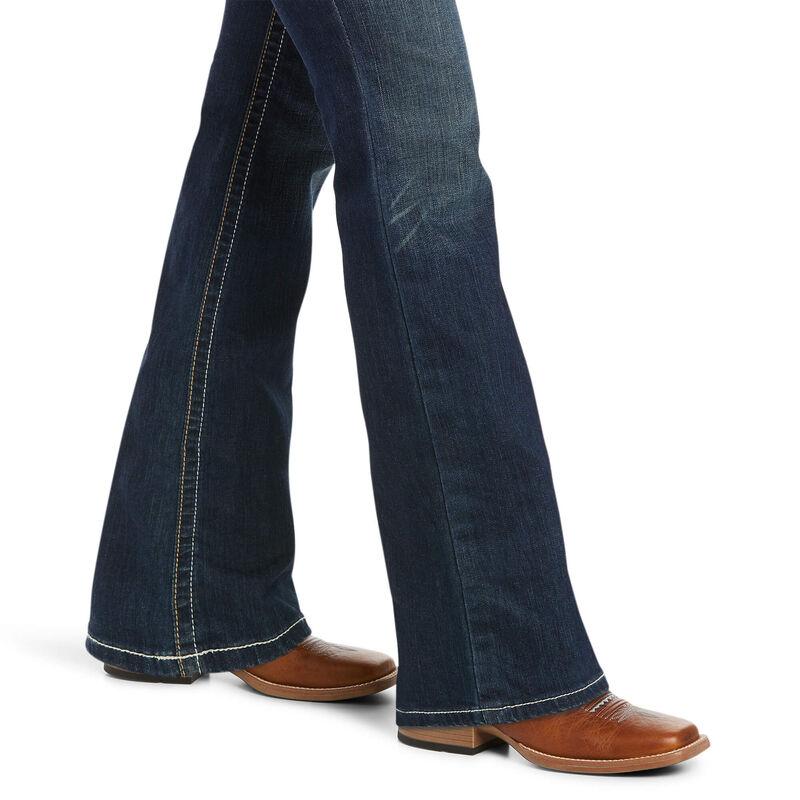 R.E.A.L. Mid Rise Stretch Whipstitch Boot Cut Jean