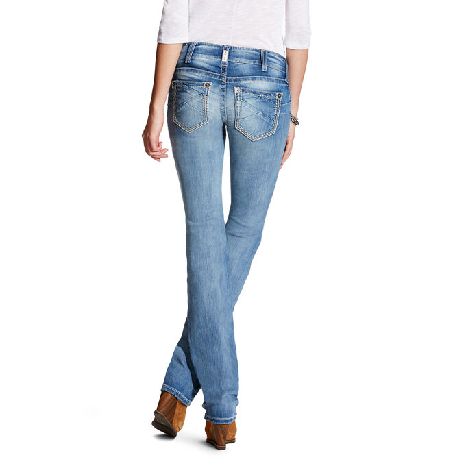 R.E.A.L Mid Rise Hanna Stackable Straight Leg Jean