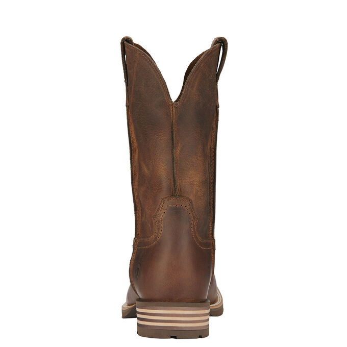 Mens Distressed Brown Cowboy Boots