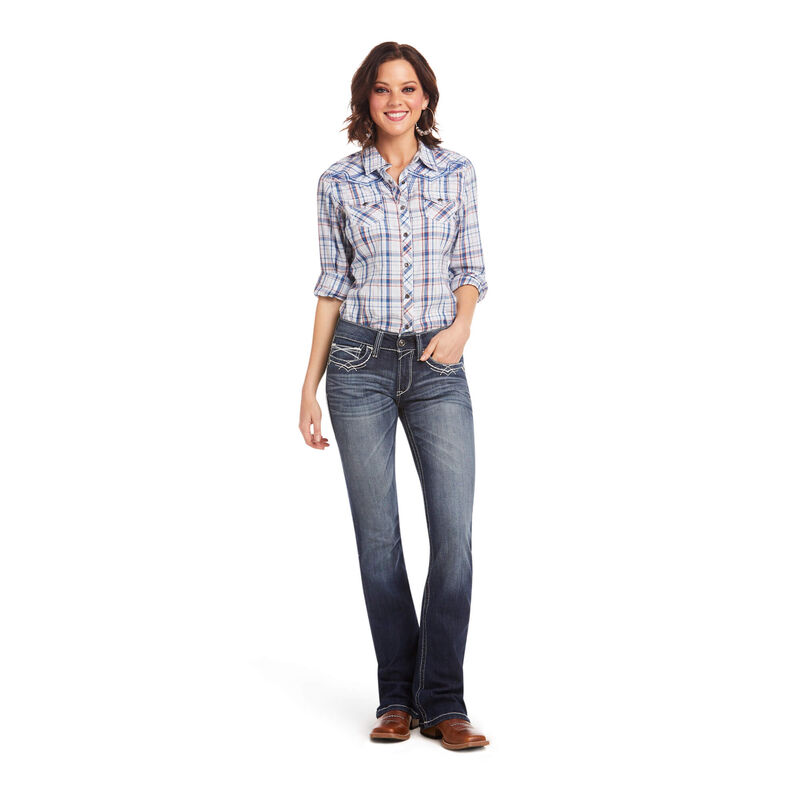 R.E.A.L Mid Rise Entwined Boot Cut Jean