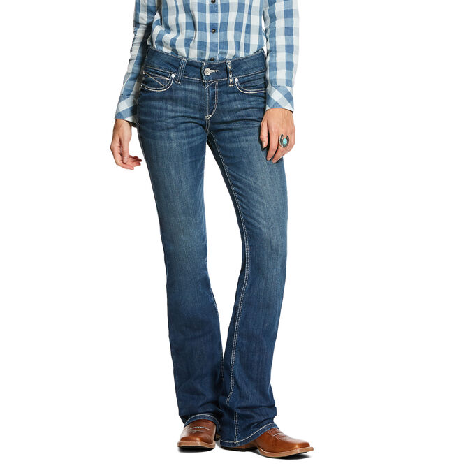 R.E.A.L. Mid Rise Stretch August Boot Cut Jean