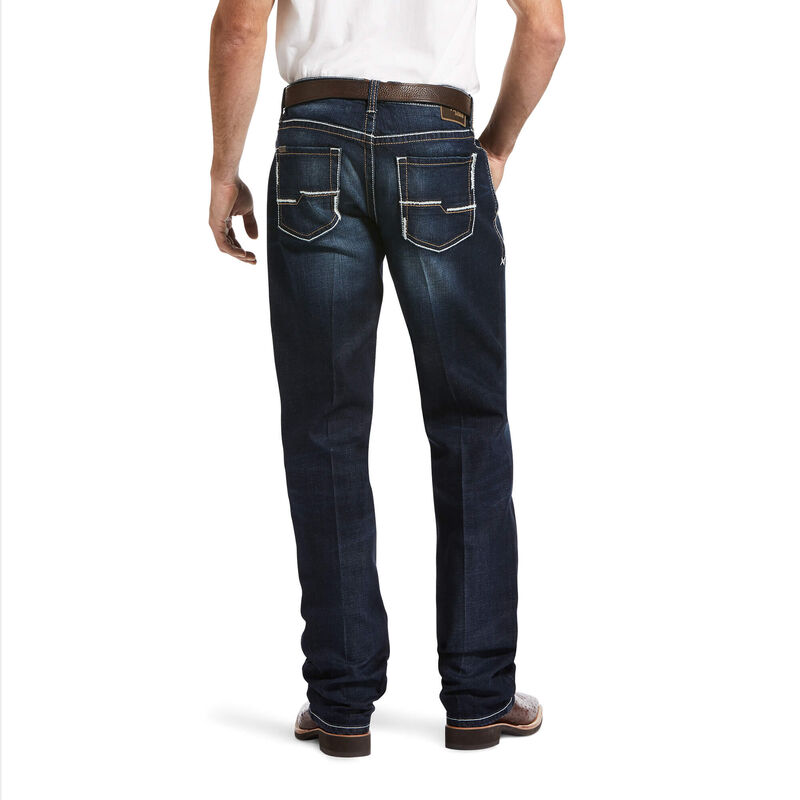 M4 Low Rise Stretch Madoc Stackable Straight Leg Jean