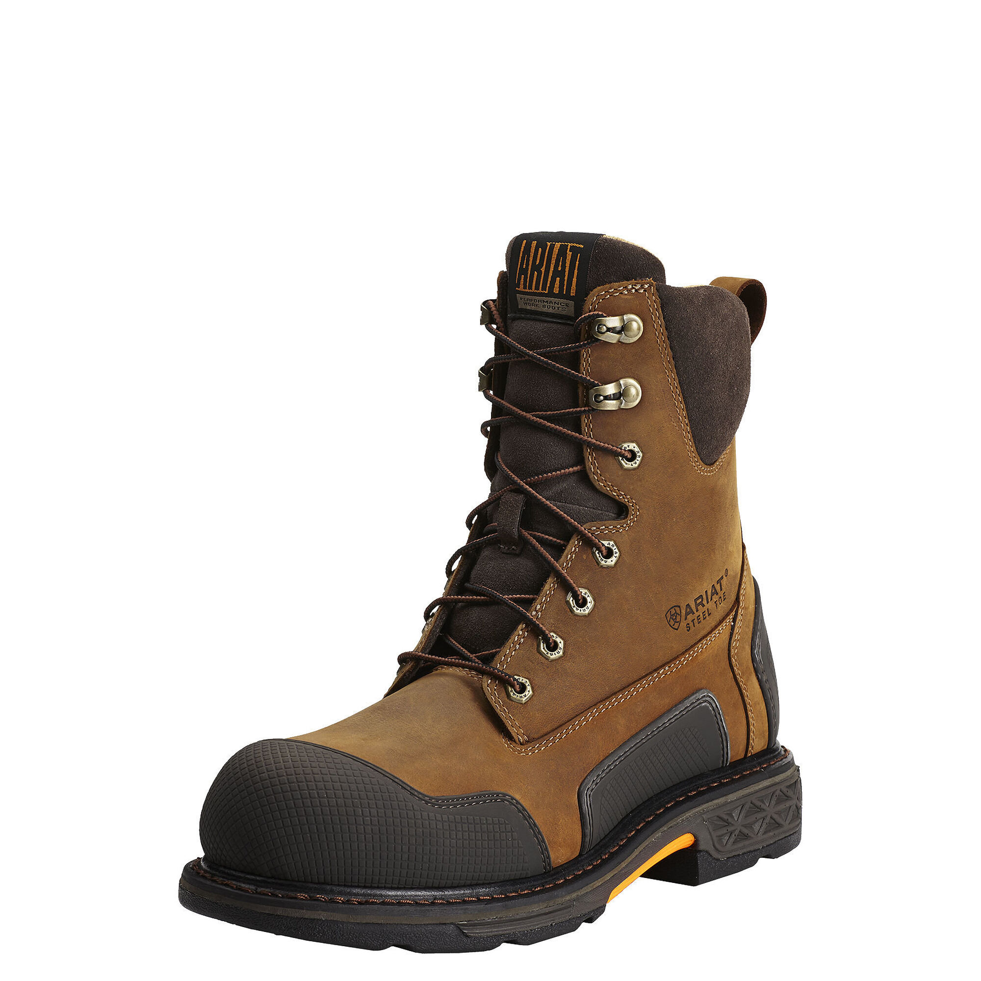 "OverDrive XTR 8"" Side Zip Steel Toe Work Boot"