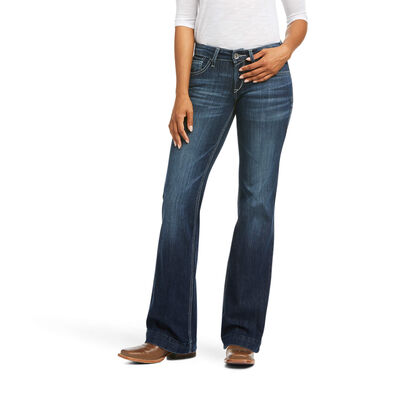 Trouser Mid Rise Melanie Wide Leg Jean