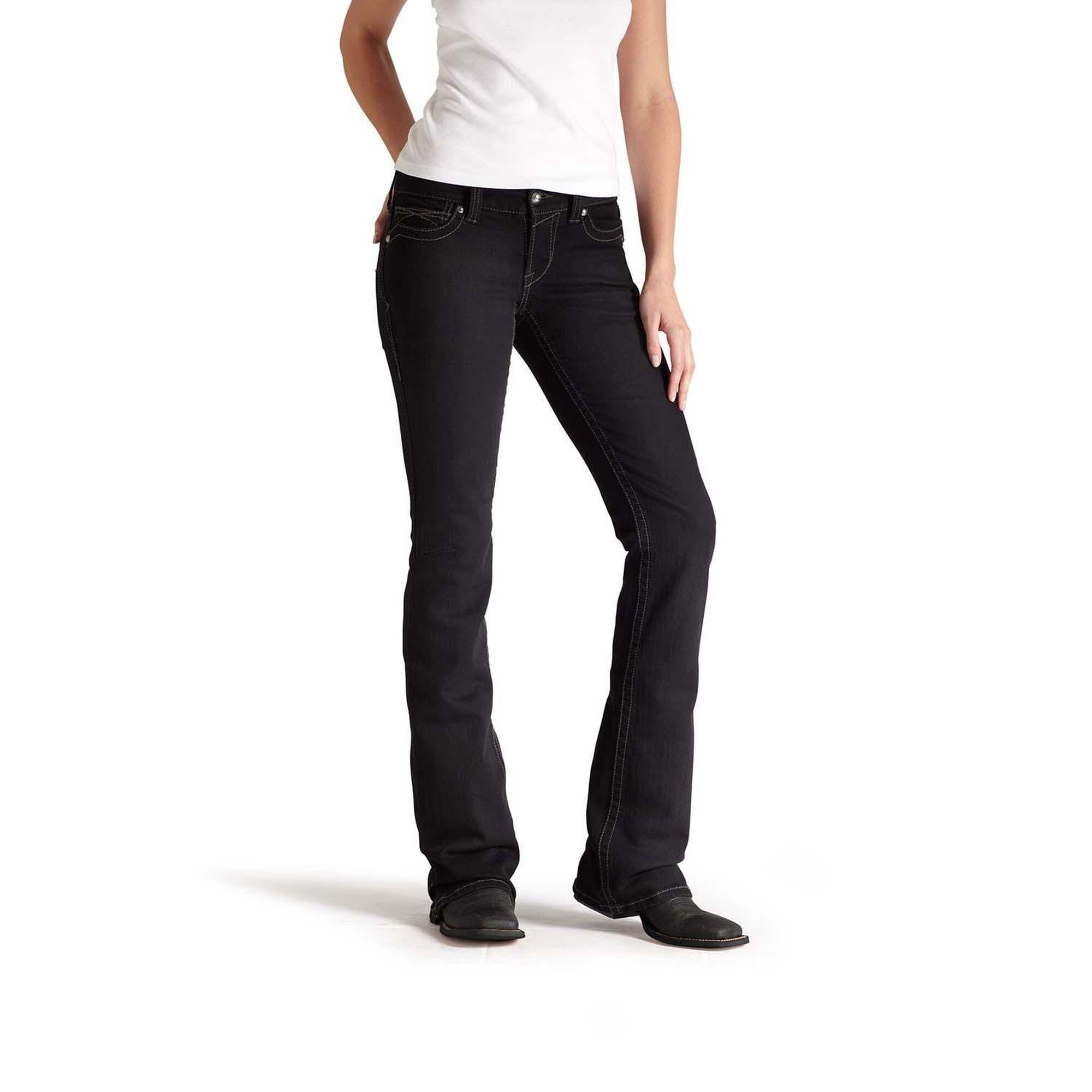 R.E.A.L Mid Rise Black Boot Cut Jean