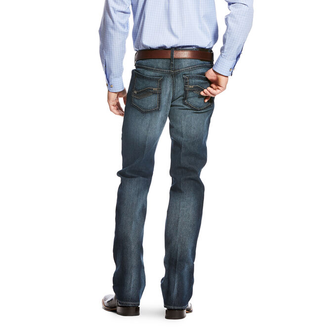 Original Fit Stretch Shadow Stitch Stackable Straight Leg Jean