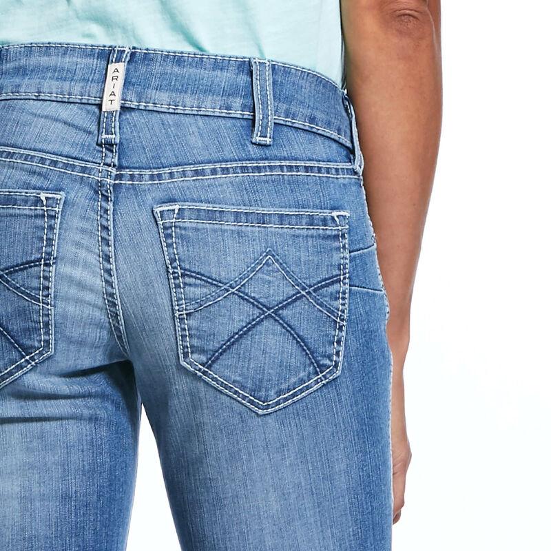 R.E.A.L. Mid Rise Stretch Tulip Stackable Straight Leg Jean