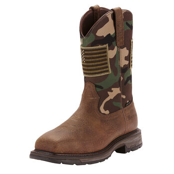 WorkHog Patriot Steel Toe Work Boot