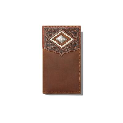 Diamond Emboss Brown Rodeo Wallet