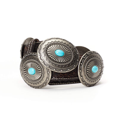 Turq Silver Concho Belt