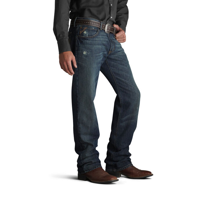 Men's Dark Wash Western Bootcut Jeans