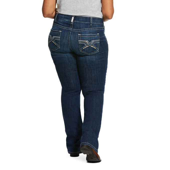 R.E.A.L. Mid Rise Stretch Entwined Boot Cut Jean
