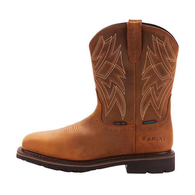 Everett Wide Square Toe Waterproof Steel Toe Work Boot