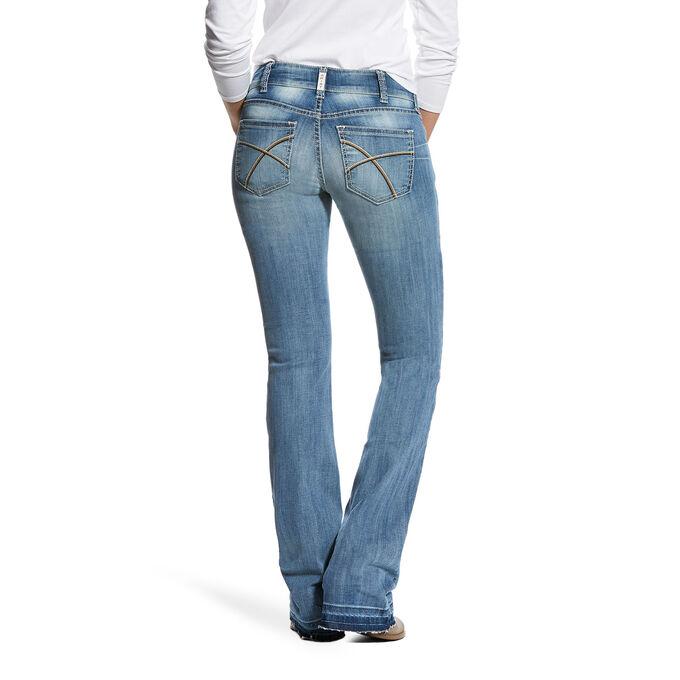 R.E.A.L Mid Rise Meg Stretch Boot Cut Jean