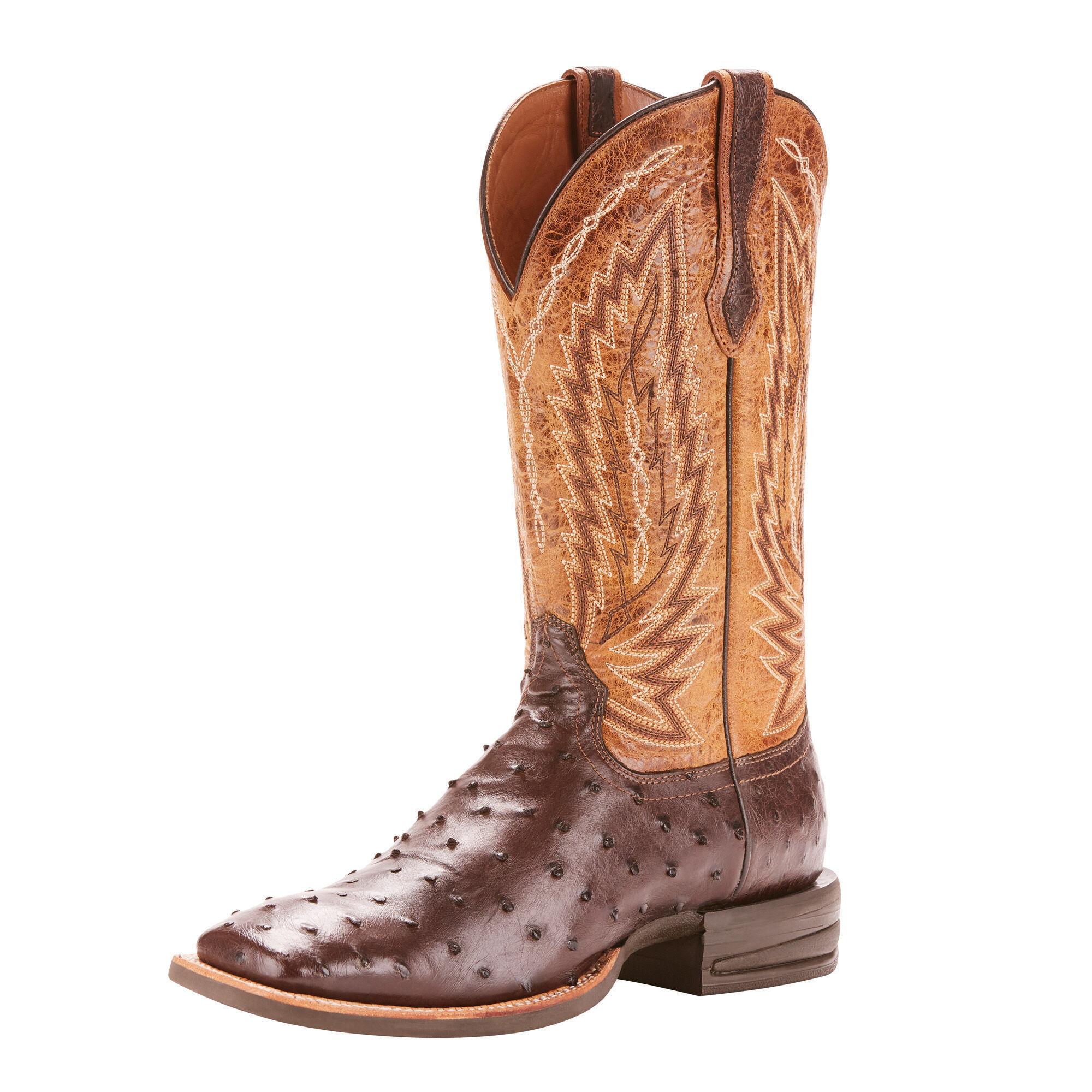 Ostrich Cowboy Boots for Men