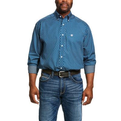 Wrinkle Free Miramar Print Classic Fit Shirt