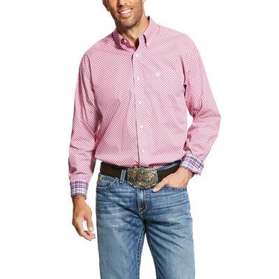 Wrinkle Free Ipman Print Classic Fit Shirt