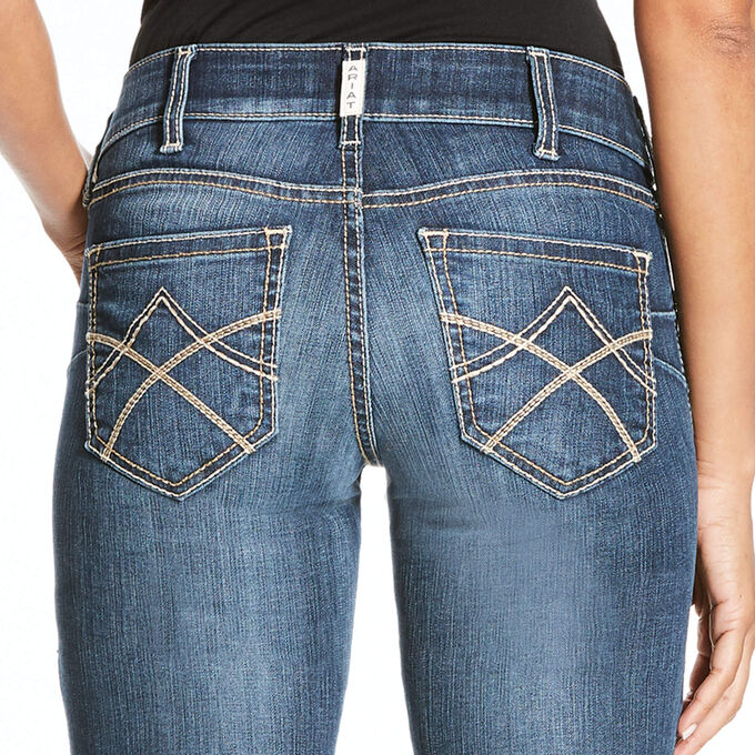 R.E.A.L. Mid Rise Stretch Tulip Boot Cut Jean