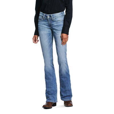 R.E.A.L. Mid Rise Stretch Rosa Boot Cut Jean