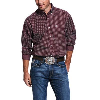 Wrinkle Free Maklin Print Classic Fit Shirt