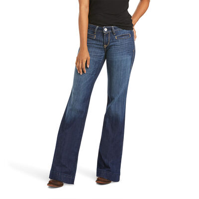 Trouser Mid Rise Stretch Lucy Wide Leg Jean