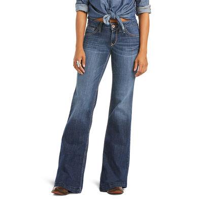 Trouser Mid Rise Evie Wide Leg Jean