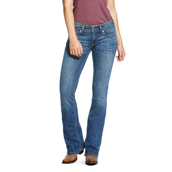 R.E.A.L. Mid Rise Arrow Fit Stretch Silver Dust Boot Cut Jean