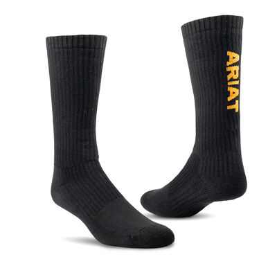 Premium Ringspun Cotton Mid Calf Work Sock 3 Pair Pack