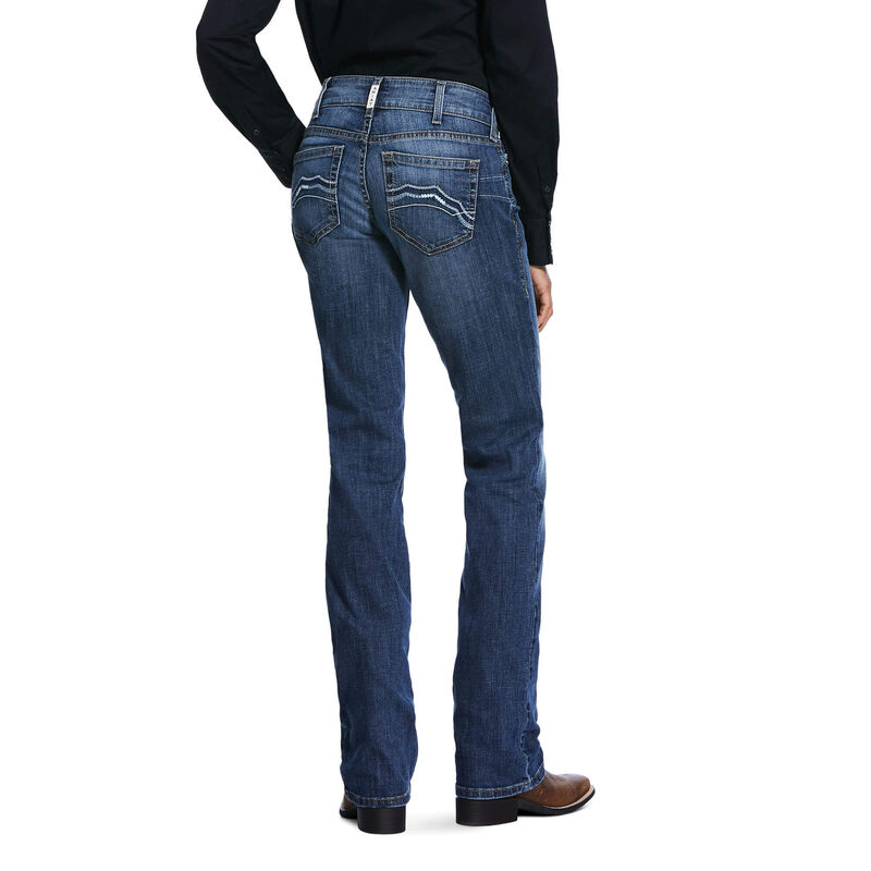 R.E.A.L. Mid Rise Stretch Brooke Stackable Straight Leg Jean