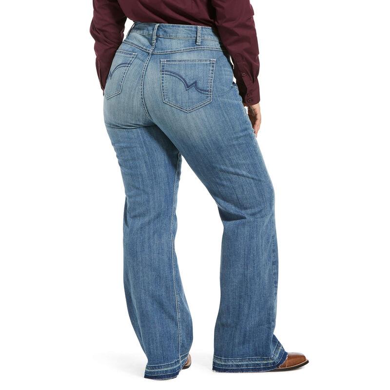 Trouser Mid Rise Leah 3D Wide Leg Jean