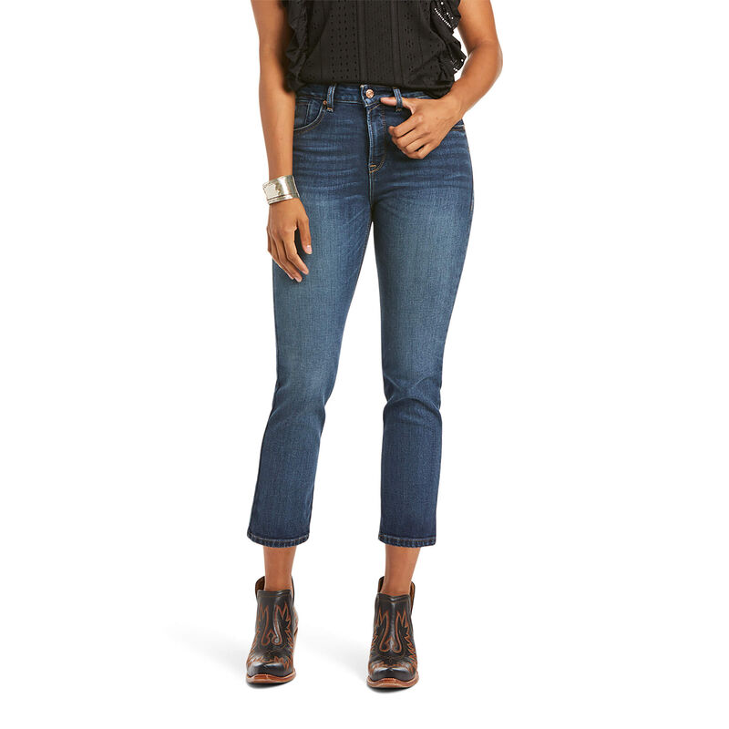 Premium High Rise Straight Crop Jean