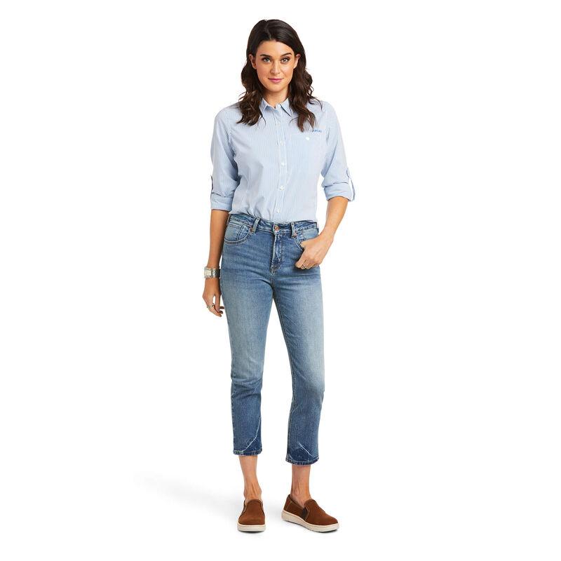 Premium High Rise Straight Crop Jean
