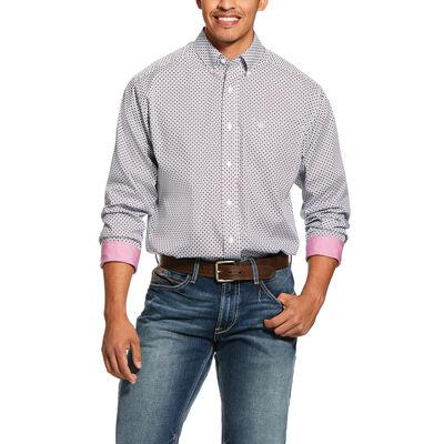Wrinkle Free Ilcott Print Classic Fit Shirt