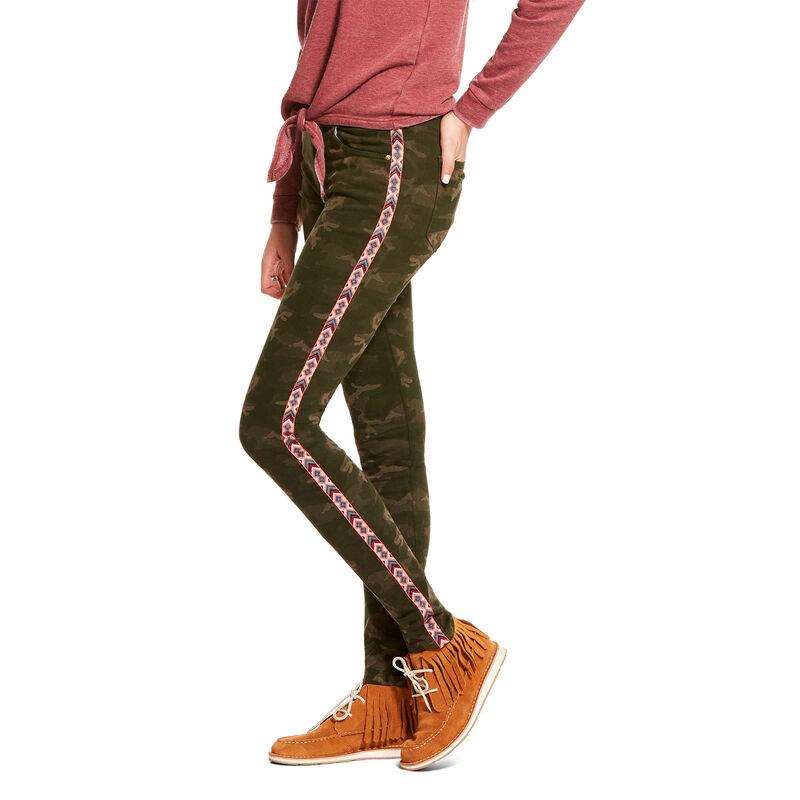 Ultra Stretch Perfect Rise Chevron Camo Skinny Jean