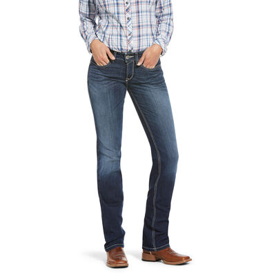 R.E.A.L. Mid Rise Stretch Margot Stackable Straight Leg Jean